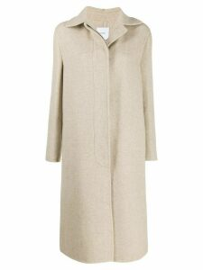 Agnona cashmere single-breasted coat - Brown