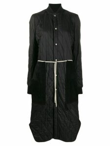 Rick Owens long quilted coat - Black