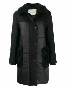 Mackintosh PORIN Black Wool THINDOWN Panel Coat LM-1005F/TD