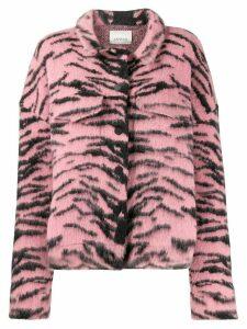 Laneus tiger print utility jacket - Pink