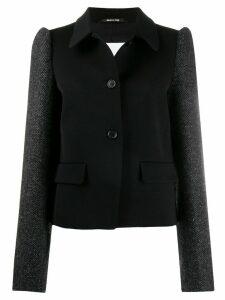 Maison Margiela puffed-shoulder single-breasted coat - Black