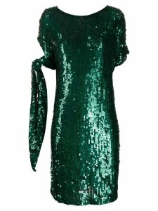 P.A.R.O.S.H. sequined tied-sleeve dress - Green