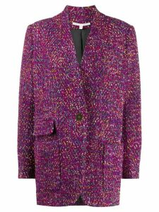 Veronica Beard single-breasted embroidered coat - PINK