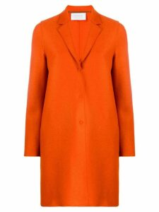 Harris Wharf London cocoon single-breasted coat - ORANGE