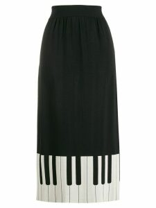 Boutique Moschino piano hem detail skirt - Black