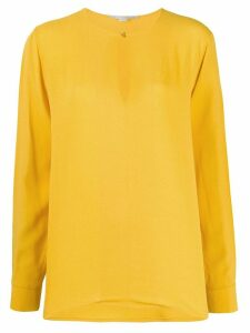 Stella McCartney split-sleeve keyhole blouse - Yellow