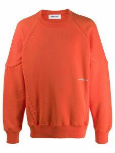 Ambush logo print sweatshirt - ORANGE