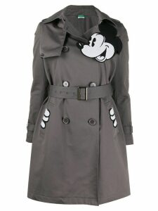 Benetton Mickey print trench coat - Grey