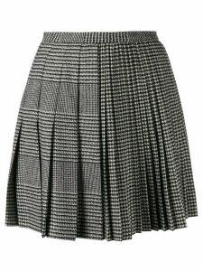 Ermanno Scervino houndstooth pleated mini skirt - Black