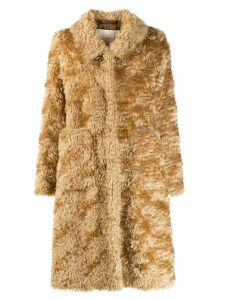 Mackintosh TROON Beige Mohair Fur Coat LM-1004F - Neutrals