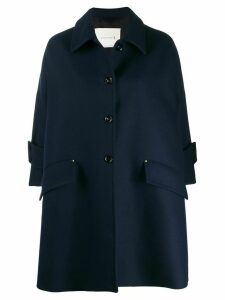 Mackintosh HUMBIE Ink Wool Cropped Sleeve Overcoat LM-1007F - Blue