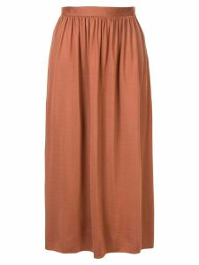 The Row Tina gathered waist skirt - Brown