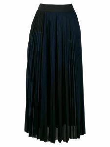 Victoria Victoria Beckham pleated midi skirt - Blue