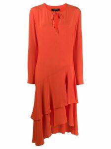 Barbara Bui layered day dress - Orange