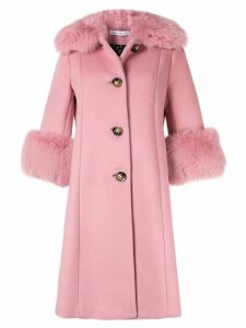 Saks Potts single breasted wool coat - PINK