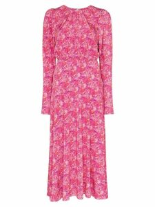 Rotate floral print midi dress - Pink