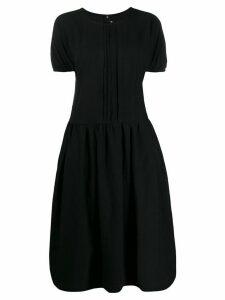 Comme Des Garçons Comme Des Garçons pleat shift dress - Black