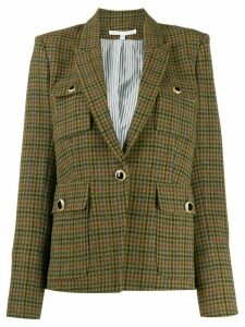 Veronica Beard plaid fitted blazer - Green