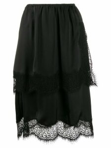 LANVIN scalloped midi skirt - Black