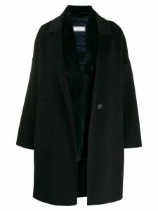 Peserico layered single-breasted coat - Blue