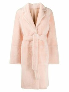 Yves Salomon single breasted coat - Pink