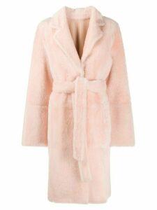Yves Salomon single breasted coat - PINK