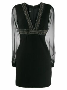 Pinko long-sleeve fitted dress - Black