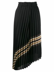 Brunello Cucinelli asymmetric pleated skirt - Black