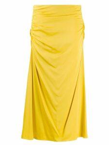 Theory twisted draped skirt - Yellow