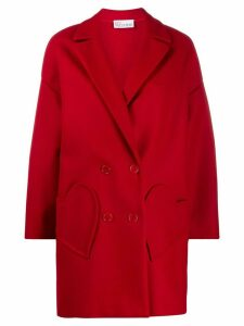 Red Valentino heart pocket coat