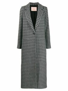 Twin-Set fitted single-breasted coat - Grey