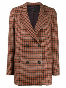 PS Paul Smith double buttoned houndstooth jacket - Orange