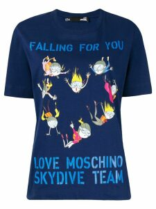 Love Moschino Skydive Team T-shirt - Blue