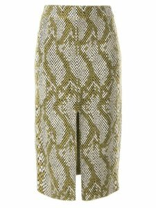 CAMILLA AND MARC Alissa snakeskin print skirt - NEUTRALS