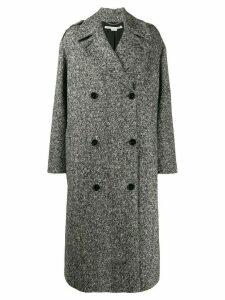 Stella McCartney double-breasted marled coat - Black