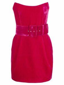 Rasario strapless velvet dress - Pink