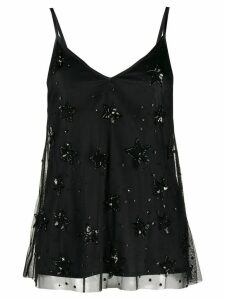 P.A.R.O.S.H. sequin-embellished star top - Black