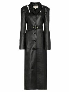 Matériel belted tie detail maxi coat - Black