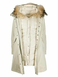 Woolrich hooded parka coat - White