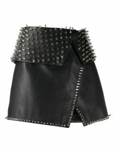 Balmain spiked stud detail skirt - Black