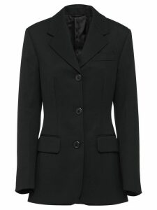 Prada fitted single breasted blazer - Black