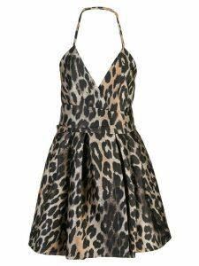 TRE by Natalie Ratabesi leopard print mini dress - Black