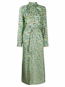 Anntian all-over print shirt dress - Green