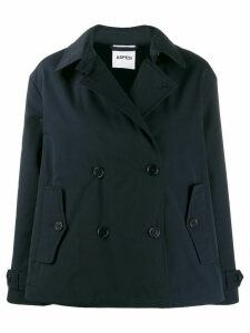 Aspesi Mousse double-breasted coat - Blue