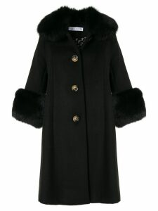 Saks Potts single-breasted wool coat - Black