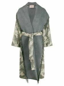 Twin-Set spread collar coat - NEUTRALS