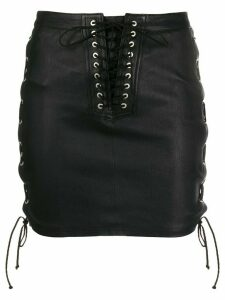Unravel Project corset detail skirt - Black