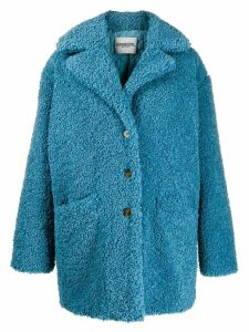 Essentiel Antwerp Tribal oversized coat - Blue