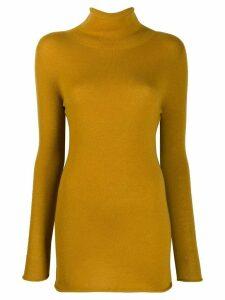 Agnona rollneck cashmere sweater - Yellow