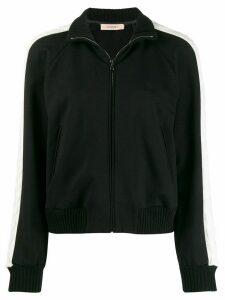 Twin-Set contrast stripe bomber jacket - Black